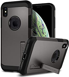 Spigen iPhone X Case, Tough Armor Kickstand Heavy Duty, Gunmetal 057CS22161