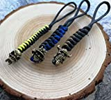 FOOMEXT EDC Knife Lanyards - WESTWILD Handcrafted Lanyards Pendant for Pocket Knife/Outdoor Gear/Zipper Pulls/Survival Keychain (Metal Beads Version,3 Packs)