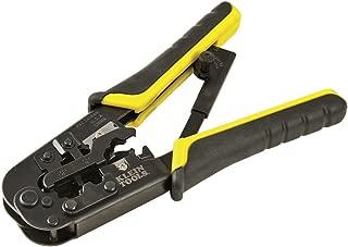 Klein Tools VDV226-011-SEN Crimper, All in One Ratcheting Modular Crimper / Wire Stripper /...