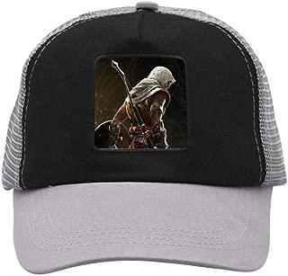 Men's Cool Assassin Cr-eed Golden 3D Hat Baseball Cap Adjustable Mesh Ball Cap for Men Women