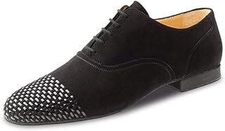 2 cm Micro-Heel Extra Large Cuir Noir Werner Kern Hommes Chaussures de Danse 28059