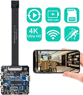 Real 4K Ultra HD DIY Wireless Camera Mini DVR Motion Detection Nanny Cam Security System Remote Control Action Camera up to 256GB Upgraded Version