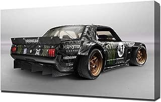 Lilarama USA 2014-Hoonigan-Ford-Mustang-RTR-by-Ken-Block-V3 Canvas Art Print - Wall Art - Canvas Wrap