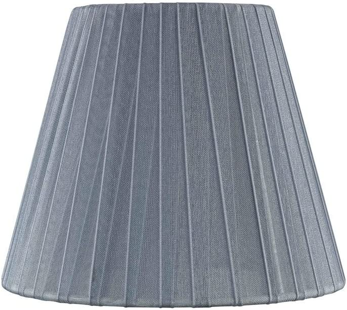 Design Classics ! Super beauty product restock quality top! Clip-On Empire Pleated Lamp Shade Opaque Slate Over item handling