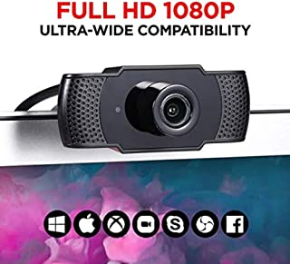 WE LOVE TEC Webcam with Microphone, 1080P HD, Plug & Play, for Video Conferencing, Recording, and Streaming, USB Computer ...