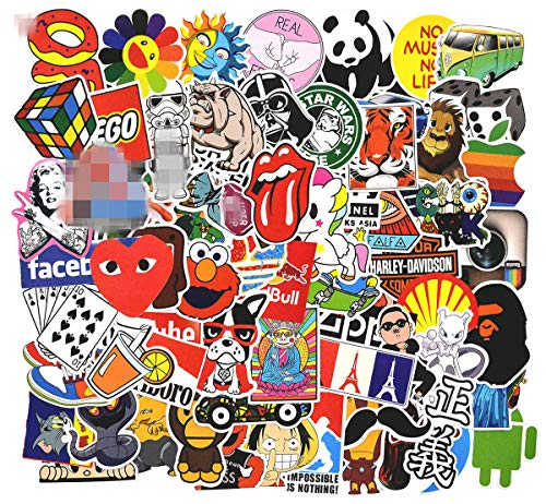 Stickers Pack Cool, 100 Pcs Vinyl Waterproof Stickers, for Laptop, Luggage, Car, Skateboard, Motorcycle, Bicycle Decal Graffiti Patches