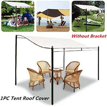 Amazon Com Younar Canopy Top Cover 300d Waterproof Canvas Awning Gazebo Cover Tent Roof Garden Winds Replacement Single Layer Cover For Outdoor Patio Backyard Lawn Shelter Garden Outdoor