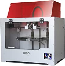 BIBO 3D Printer Dual Extruder Laser Engraving Sturdy Frame WiFi Touch Screen Cut Printing Time in Half Filament Detect Demountable Glass Bed