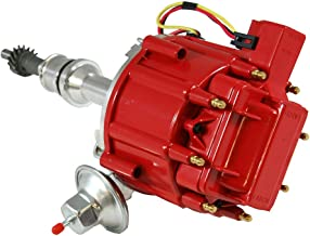 Assault Racing Products 1035111 for Ford Small Block One Wire HEI Red Cap Distributor 50k Volt Ignition Coil SBF 351W