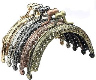 TXIN 10 Pieces Retro Coin Purse Clasp Frame Kiss Clasp Lock Bag Supplies DIY Coin Bag Handbag Craft Hardware Vintage Metal...