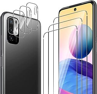 ELYCO pour Xiaomi Redmi Note 10 5G/POCO M3 Pro 5G 3 Pièces Verre Trempé + 3 Pièces Caméra Arrière Protecteur, 9H Dureté HD...