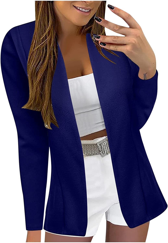 UBST Womens Slim Long Sleeve Printed Fashion Formal Suit Jackets,2021 Fall Plaid Block Blouses Tops Sweatshirts Coats