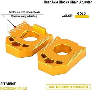 Motorcycle CNC Rear Axle Spindle Chain Adjuster Blocks ForSUZUKI DRZ400SM DRZ 400SM 2004 2005 2006 2007 2008-2015 Gold