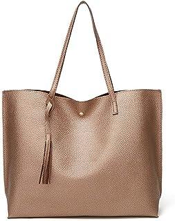 Tian Fan Ni Damen Handtasche Umhängetasche Crossbody Shopper Reise Handtasche Groß PU Leder Tasche