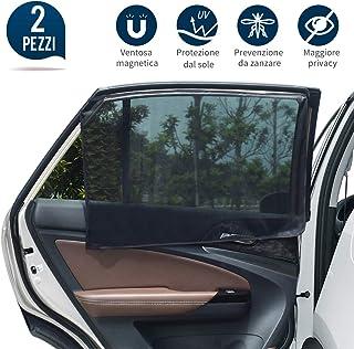 statico motivo: unicorno Parasole per auto 80 g//mq con 8 ventose per bambini confezione da 2 lato posteriore protezione universale iZoeL elefante
