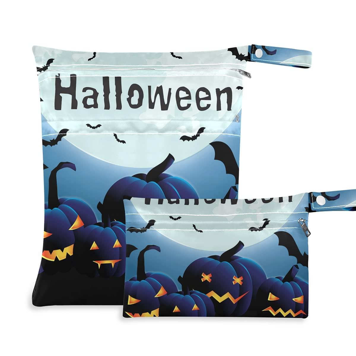 Halloween Funny Pumpkins Bat Wet Diaper Reusable Dry Excellent Bag Sales for sale
