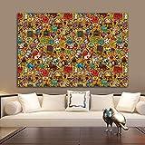 Pop Art Andy Warhol Pintura en lienzo Impresiones y carteles famosos abstractos Cuadros Cuadros de arte de pared para la sala de estar Decoración del hogar 60x90cm (24x35in) Sin marco