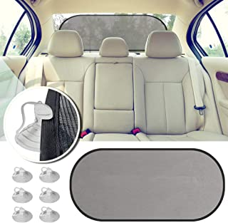 2win2buy Rear Window Sunshade, Car Sun Protector GSM 80 Maximum UV Glare Protector for Rear Facing Baby Car Seats Passengers Pets with Suction Cups Fit Most of Vehicle, Rear Window Shade