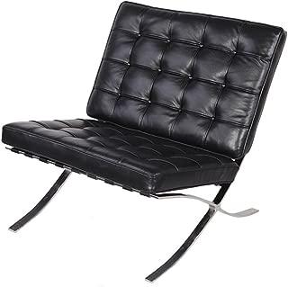 Modern Souces - Pavilion Barcelona Style Chair Replica Premium Leather Black