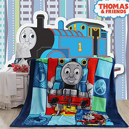 talever Kid Blanket, Super Plush Throw Blanket Cartoon Print Kids Adults Character Lightweight Coral Fleece Blanket Size 59x78 inches (Thomas)