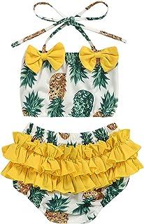 Toddler Baby Girls 2-Piece Tankini Bikini Pants Pineapple Bathing Suit Swimwear Swimsuit Summer Beachwear Outfit Set