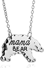 BFF Jewelry Women's Animal Honey Mama Bear Mother's Day Necklace Gold Pleted for Mom Family Birthday