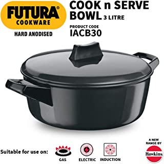 Hawkins Futura Hard Anodised Cook N Serve Bowl, 3 Litres