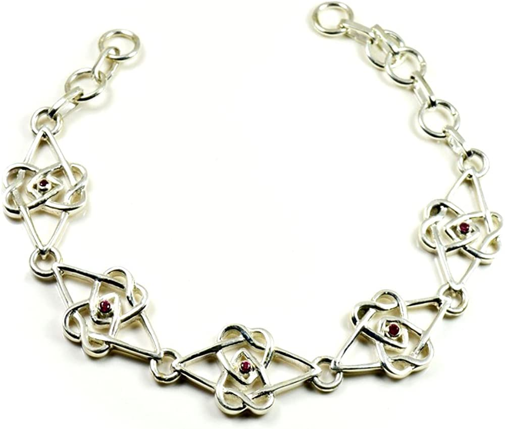 Great National products interest Gemsonclick Genuine Natural Garnet Sterling 925 Silver Bracelet