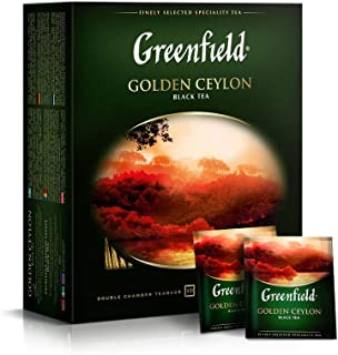 Greenfield Golden Ceylon Сlassic Collection Black Tea Finely Selected Speciality Tea 100 Double Chamber Teabags With Tags ...