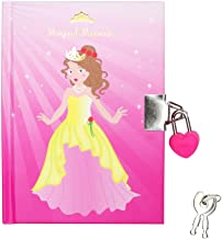 Princess Belle Pink 4 x 6 Inch Lined Lock and Key Journal Diary