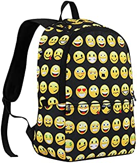 Canvas Backpacks Smiley Emoji Face Printing School Bags For Teenagers Girls and kids Shoulder Bag