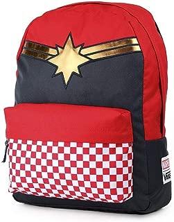 CAPTAIN MARVEL Backpack Racing Red Schoolbag VN0A3QXFIZQ Vans MARVEL Bags