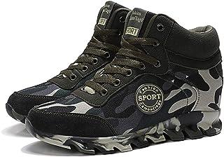 Sneakers con Zeppa da Donna Moda Camouflage Cucito Tela Lacci Alto Tacco Nascosto 7 CM Scarpe Casual Big Size 41 Scarpe da...