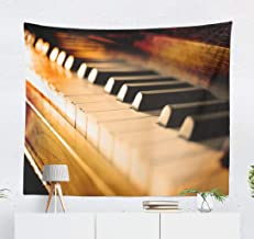 Aactwon Antique Piano Wall Tapestry,Tapestry Wall Hanging Antique Piano Keys Wood Key Music Old Vintage Sheet Wall Art for Bedroom Wall Decor Tablecloth Dorm Decor 60x50 Inches, Antique Piano Keys