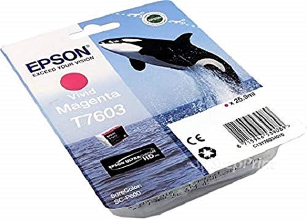 Epson T76064010 Tintenpatronen 26 Ml Hell Magenta Bürobedarf Schreibwaren
