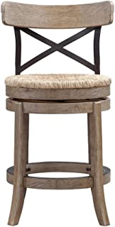 Boraam Myrtle Counter Height Stool, 24-Inch, Wire Brush