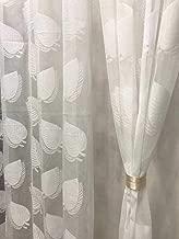 Fresh From Loom Tissue Net Eyelets Rings Semi-Transparent Sheer 7 ft Door Curtain (White), 1pc