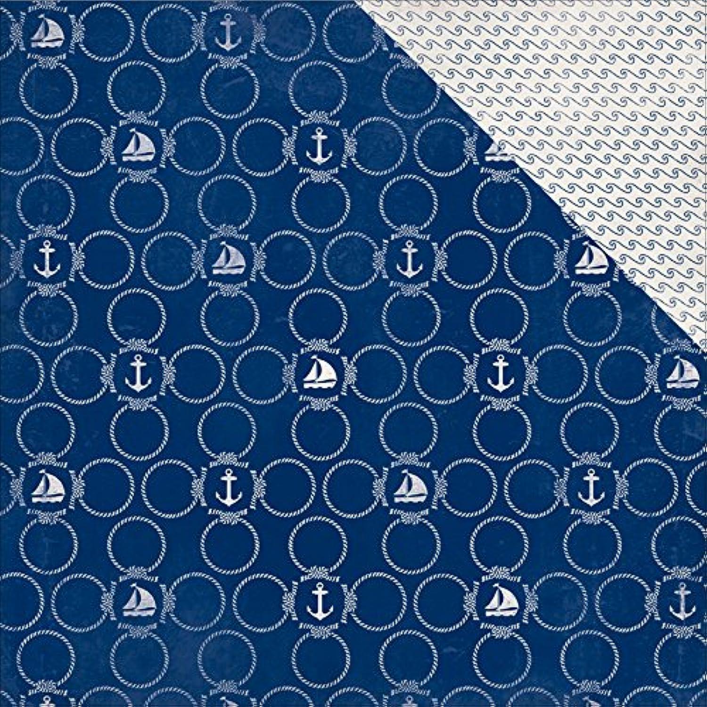 Authentique Papier 18 Blatt navigieren Seil Kreise Rolling Rolling Rolling Waves Seaside doppelseitig Karton, 30,5 x 30,5 cm B012FMZ5GE | Hat einen langen Ruf  | Kostengünstig  | Sorgfältig ausgewählte Materialien  5f5b43