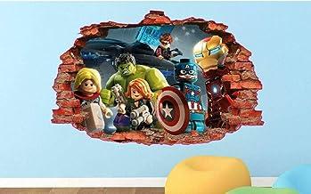 Lego ninjago Foro IN The Muro Vista Adesivi da Parete Arte Caratteristica