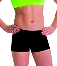 Motionwear Perfect Active Gymnastics Low Rise Shorts, Black, Large Adult