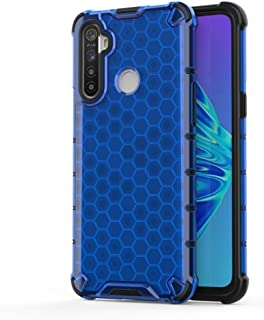 Oppo Cases for Oppo Realme C3 Shockproof Honeycomb PC + TPU Case(Red) Oppo Cases (Color : Blue)