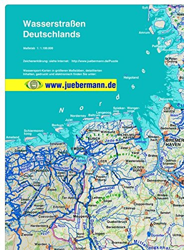 Wasserstraßen Deutschlands: Übersichtskarte