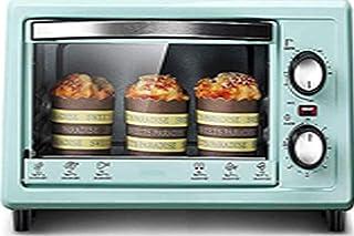 Mini horno eléctrico de 11 L con doble tubo de calefacción y 60 minutos de tiempo con bandeja para hornear y parrilla y guantes antiquemaduras – 800 W