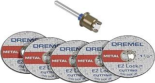 Dremel EZ406-02, EZ - Lock Starter Kit, 1 1/2-Inch (38.1 mm) Wheel Diameter, 5 piece Fiberglass Reinforced Cut-off Wheels and EZ402 mandrel included, Rotary Tool Cutting Disc Accessories