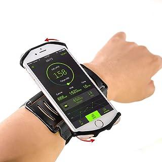 高品質なスマホ アームバンド ランニング 180°回転式 スマホ腕ホルダー【高弾力/防汗/軽量/男女共用】4~6インチのスマホiPhone/Samsung/Sharp など多機種に対応 プレゼント最適YOSHIO (スマホ 腕バンド)(ブッラク)