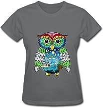 HUBA Women's Tshirt Owl City Adam Young Doodle Yellow
