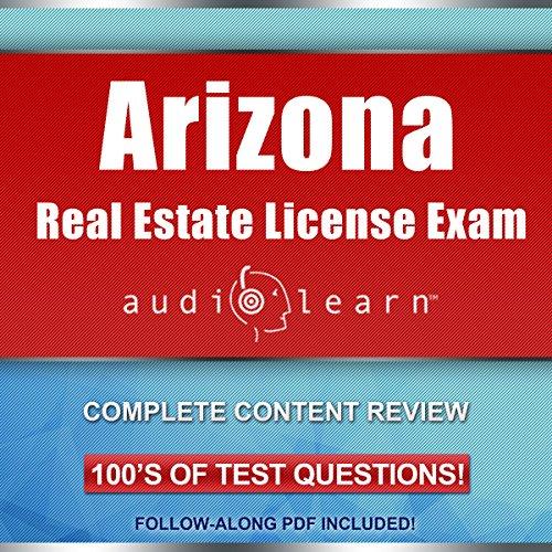 Arizona Real Estate License Exam AudioLearn audiobook cover art