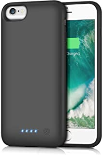 Battery Case for iPhone 6S/6 6000mAh,Yacikos Rechargeable Ultra Slim Portable Battery Pack Charging Case for iPhone 6S/6(4.7 inch) Extended Power Bank Protective Charger Case- Black