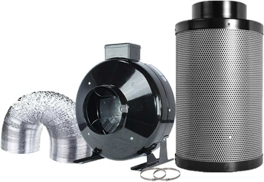 TopoGrow 6 Inch Ventilation Kit Strong sale Inline Fan Omaha Mall System