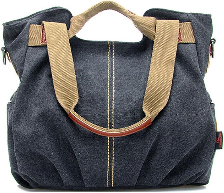 Catkit Vintage Womens Casual Canvas Tote Handbag Shoulder Bobo Bag